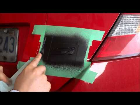 Blacking Out My Car Emblem With Plastidip