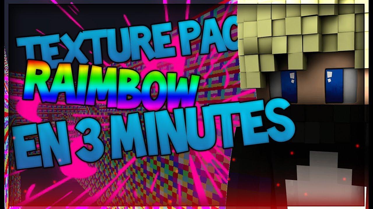 CREER UN TEXTURE PACK RAIMBOW EN 3 MIN 😂 - YouTube