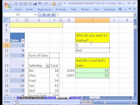 Excel Magic Trick #114: GetPivotData ISERROR and IF function - YouTube