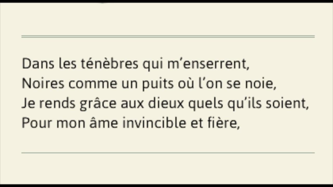 Invictus En Français