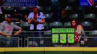 エイミーさんへサインを送ったイチロー ヤンキースのイチロー外野手が11...