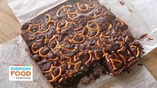 Easy Chocolate Fudge With Pretzels   Everyday Food With Sarah Carey