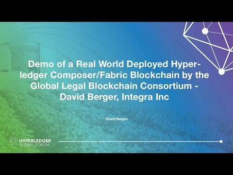 Demo of a Real World Deployed Hyperledger Composer/Fabric Blockchain