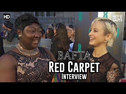 Andrea Riseborough & Phyll OpokuGyimah UK Black Pride   BAFTA Awards 2018 Red Carpet