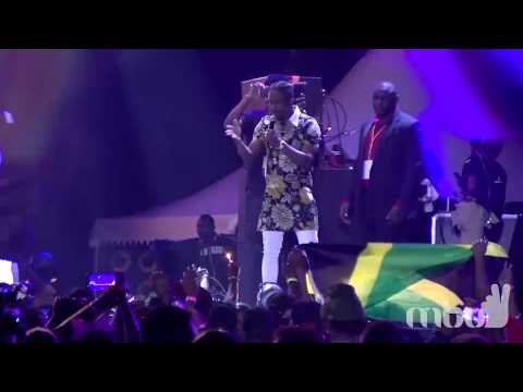 Christopher Martin's performance at the Bell All-Star Concert