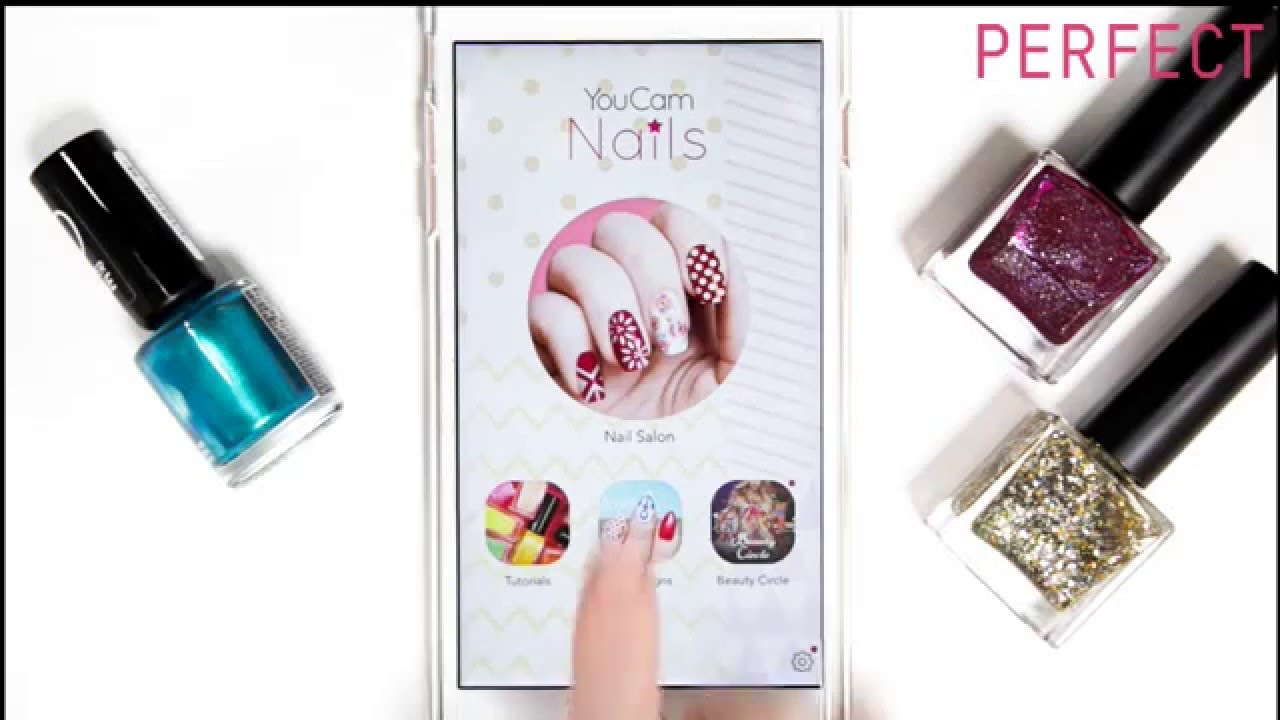 YouCam Nails] The Mobile Nail Art App to Design Your Next Look - YouTube