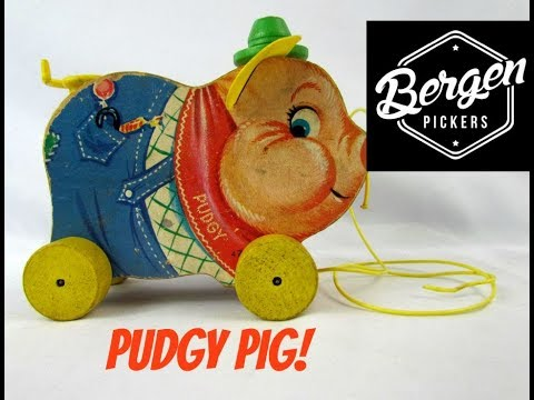 Pudgy Pig Pull Toy From 1962  By Fisher Price Toys #478