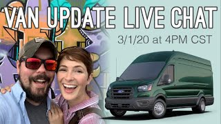 Cover images Van delivery status update + how we're preparing for a 1 month van conversion