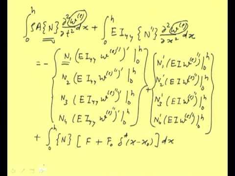 Mod-11 Lec-2 Finite Element Formulation for Beams: Galerkin's Method