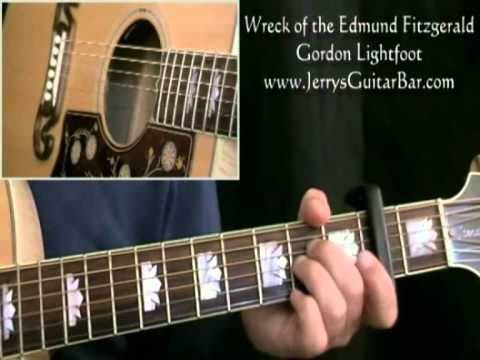 How To Play Gordon Lightfoot Wreck of the Edmund Fitzgerald (intro only)
