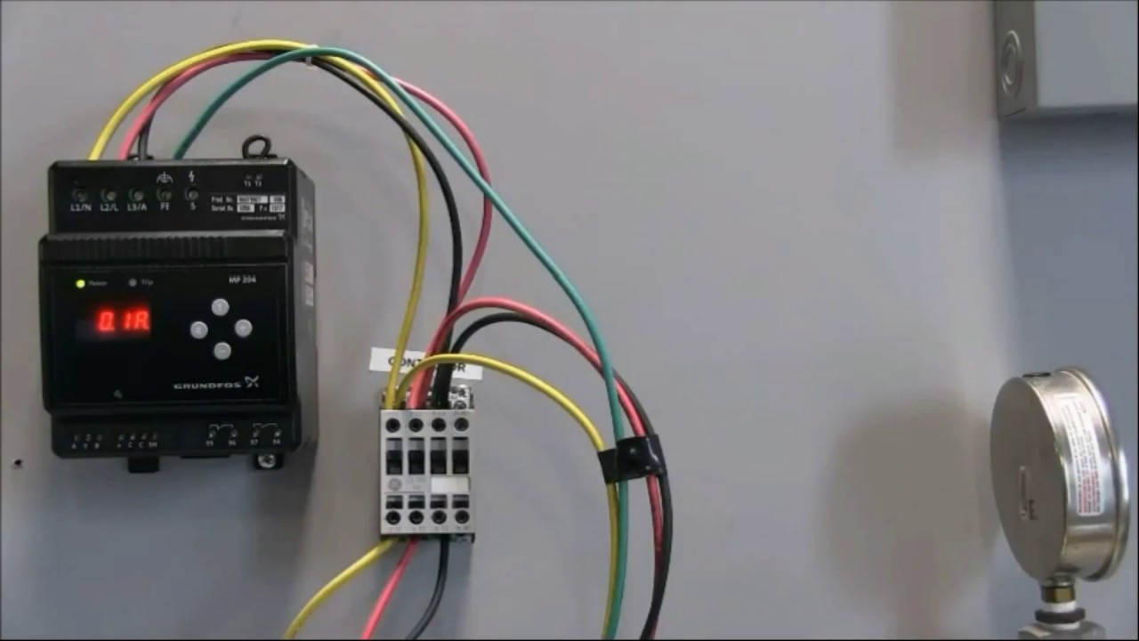 how to wire the voltage connections to the grundfos mp204 control Peerless Pump Wiring Diagram