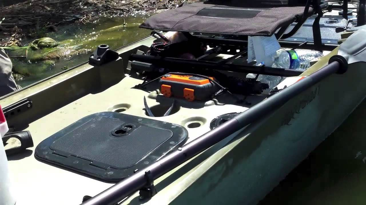 Review ascend fs128t bass pro shop fishing kayak youtube for Bass pro fishing kayak