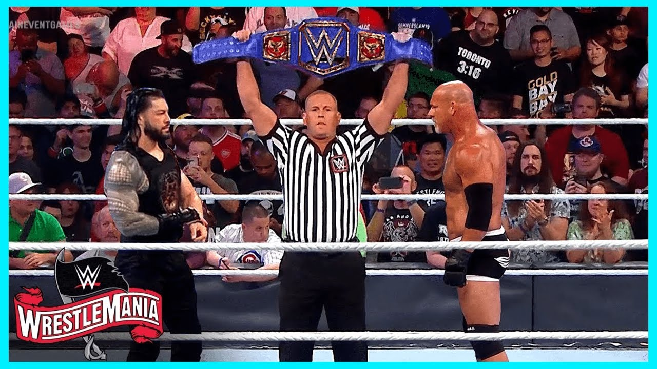 مباراة التاريخ رومان رينز ضد بيل جولد بيرق في راسلمينا 😍 !! صدمه