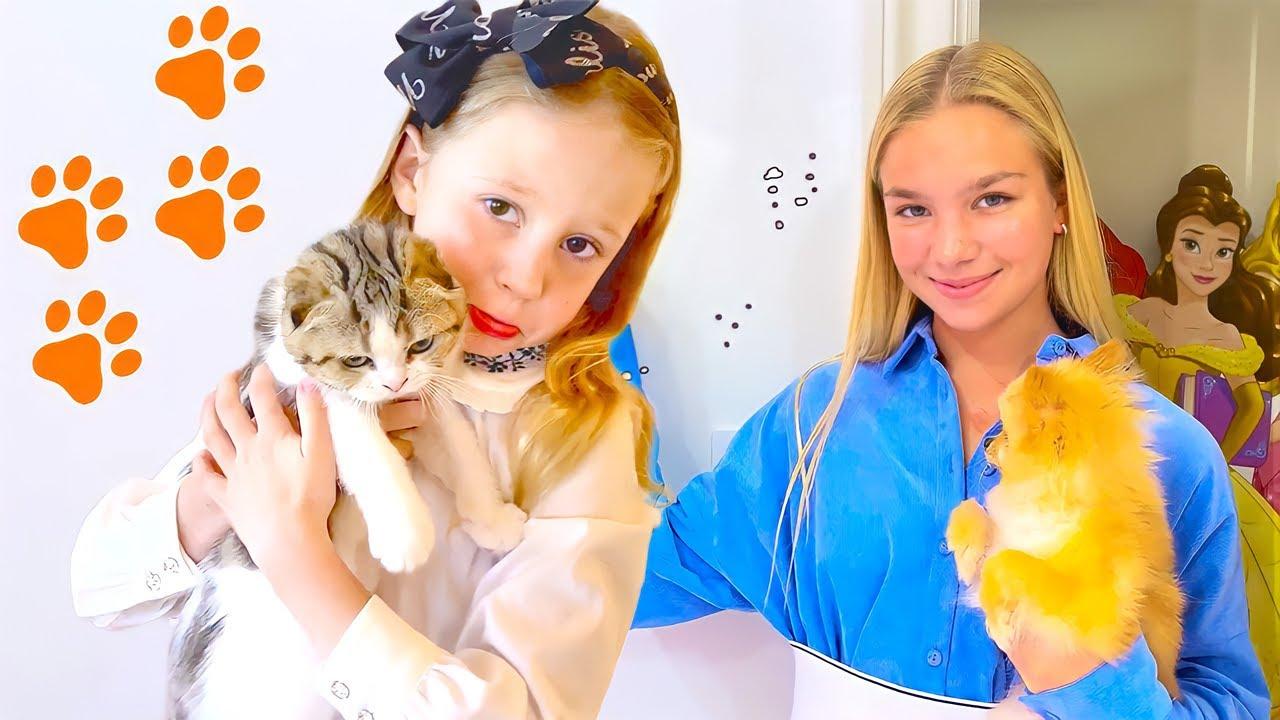 Nastya aprende com Meggie as regras das Princesas