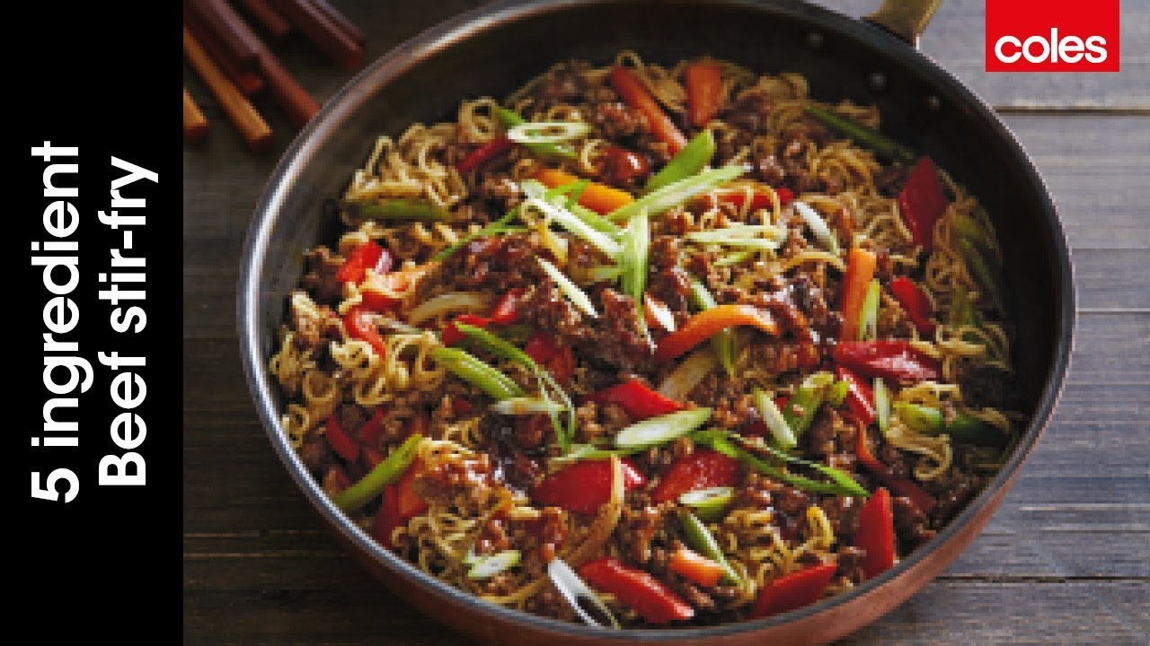 5-Ingredient Beef Curry and Veggie Stir-Fry