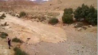 Renace el río Zin, Después de años de sequía en Israel. Desierto de Neguev. Marzo 2014.