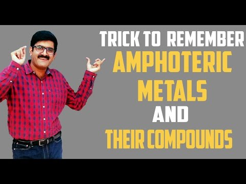Trick to remember Amphoteric Metals and their Compounds by Er. Dushyant Kumar(B.Tech. IIT-Roorkee)