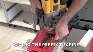 Scribe-master Pro Skirting Board Dado Rail Kitchen Plinth Scribing Router Jig Demo - Ptc Tools Uk