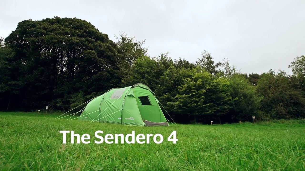 Freedom Trail Sendero 4 Tent - YouTube