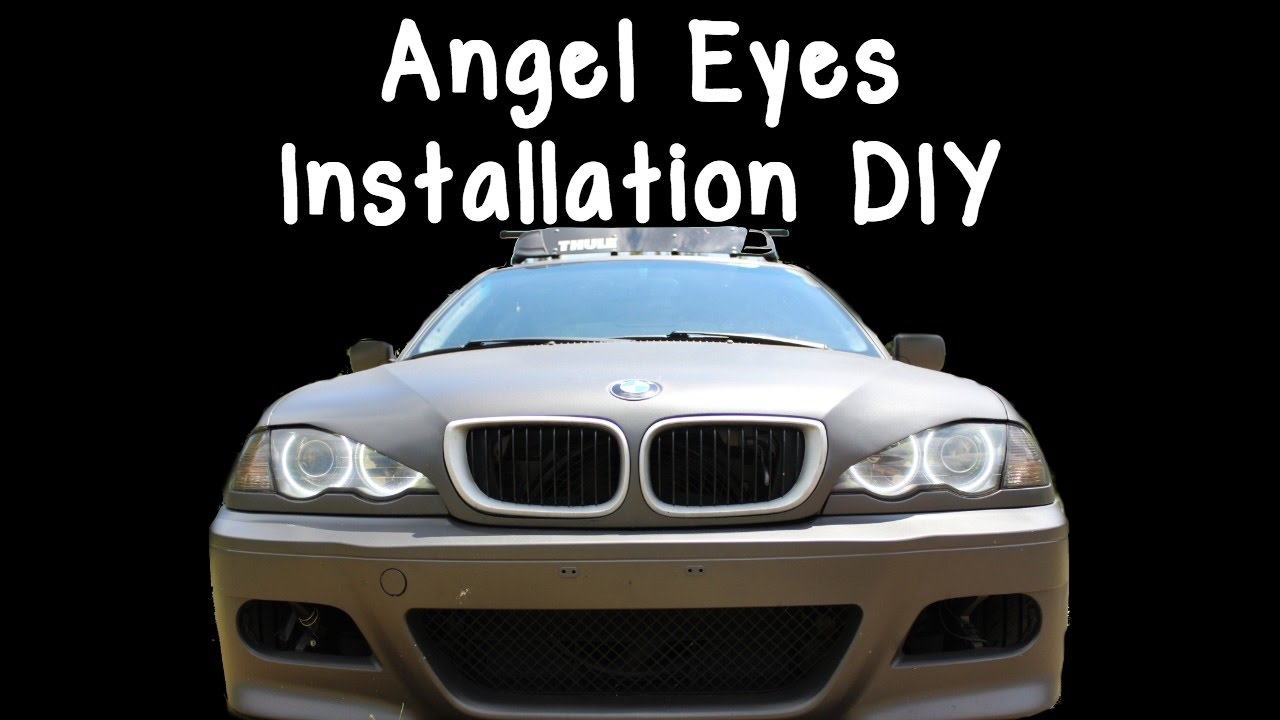 bmw e46 angel eyes install diy youtube. Black Bedroom Furniture Sets. Home Design Ideas