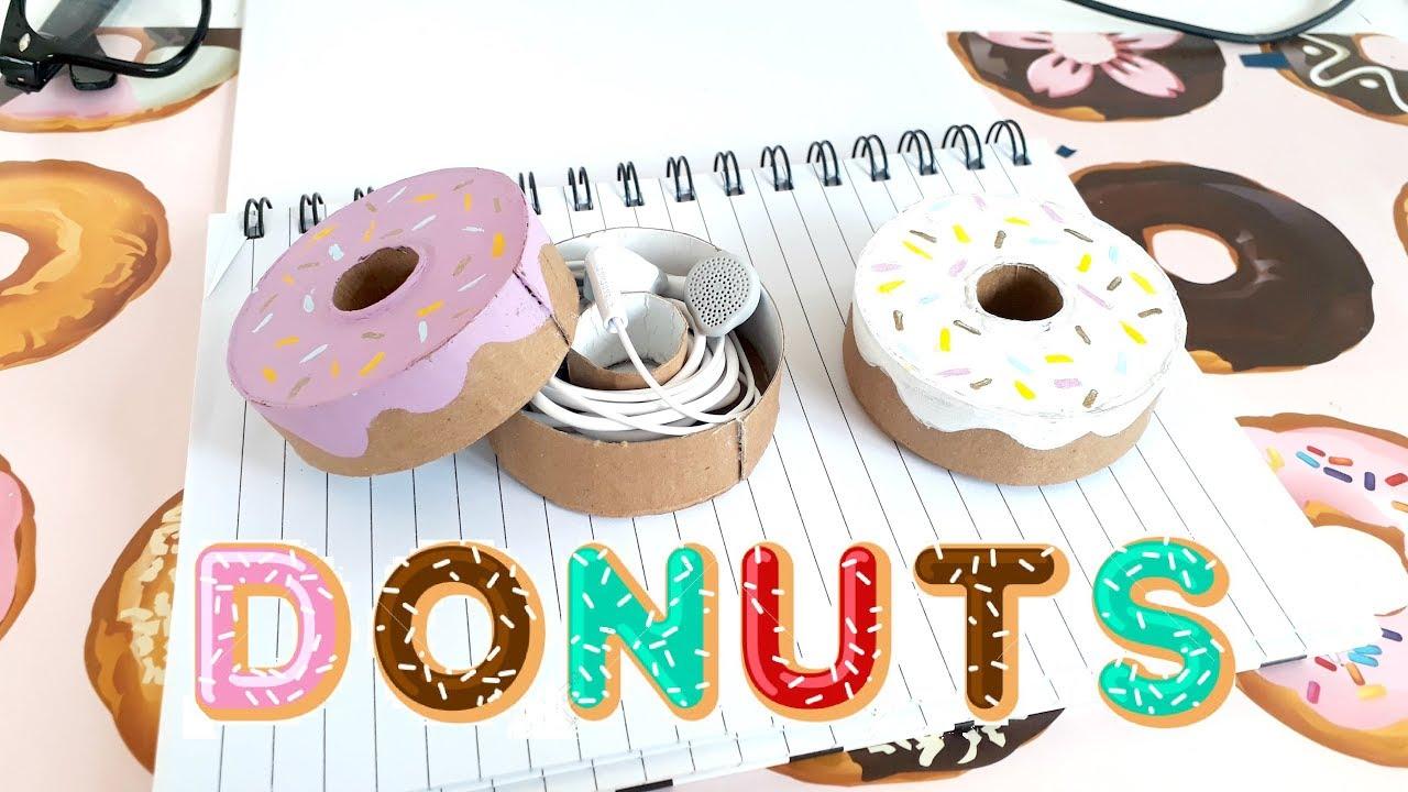 Diy ♡ Donut ♡ Para Guardar Tus Audifonos ♡ Caja En Forma