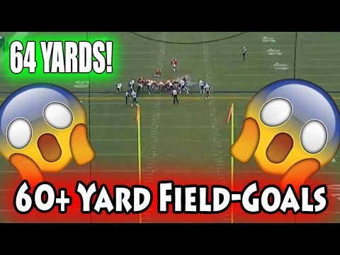60+ Yards Field Goals (NFL, NCAA, CFL)