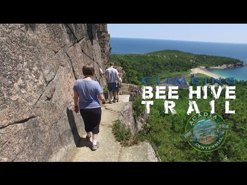 Bee Hive Trail climb | Acadia National Park (DJI Osmo filmed)