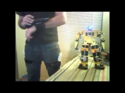 Biped Robot Mimicking Human Gait.wmv