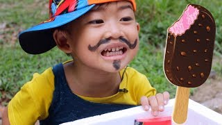 Drama Paman Penjual Es Krim Keliling Ada Kakek Gaul!! Main Jualan Es Krim | Kids Play Ice Cream Cart