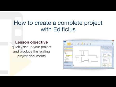 Edificius Tutorial - Producing a complete project with Edifi