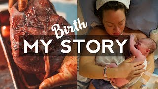 My Birth Story + Postpartum | Kristen Sarah