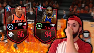 96 Master Westbrook and 94 Durant - 99 Shooting and 99 3PT! - NBA Live Mobile