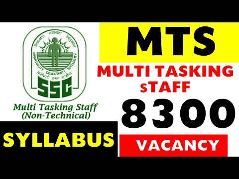 MTS | Multi Tasking Staff 8300 Jobs | Preparation Tips and Syllabus