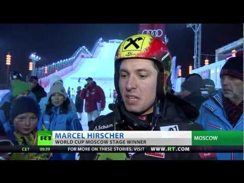World Cup leader Hirscher wins Moscow parallel slalom event