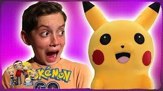 pokemon go in real life pikachu vs kids
