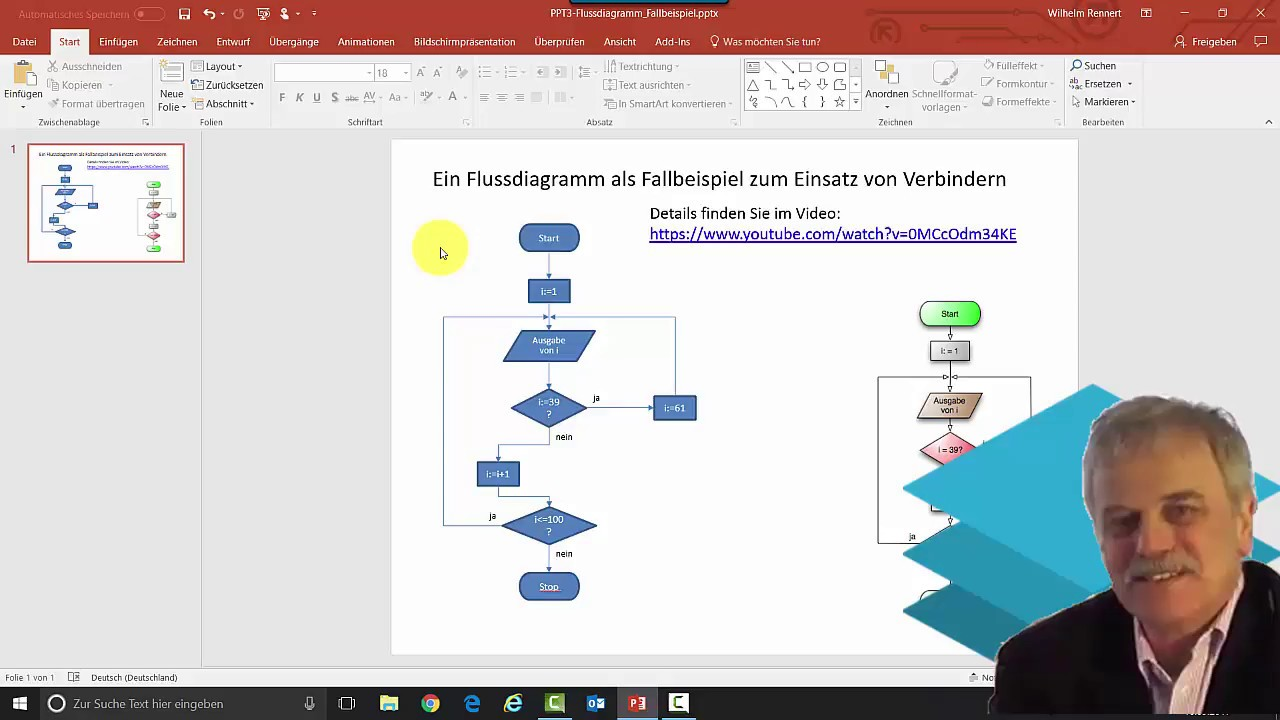 Flussdiagramm Mit Powerpoint Erstellen Ein Beispiel Zum Process Flow Diagram Youtube Fcherbergreifenden Unterricht