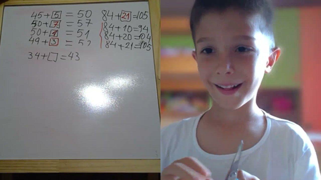 Lectia 1873 - Mihai - 5 ani - il uimeste pe Proful Online - Mate in vacanta