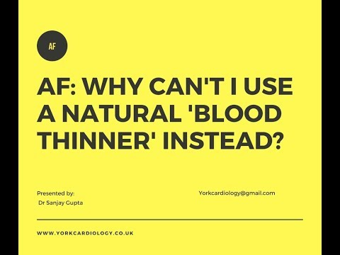 Natural 'Blood thinners' for Afib