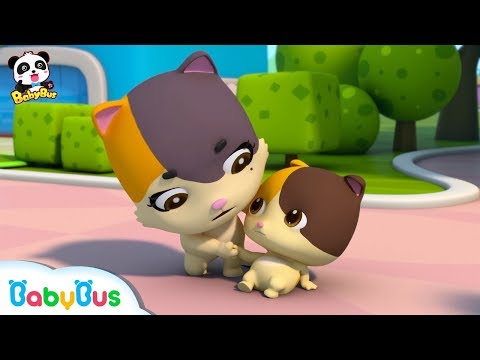 Baby Kitten Falls down | Play Safe Song | Nursery Rhymes | Kids Safety Tips | Baby Songs | BabyBus