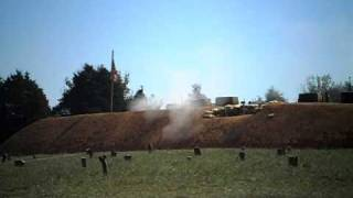 Battle at Fort sanders tennessee civil war reenactments cannon volley fire! 2010