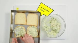 Горячий бутерброд с сыром и куриным мясом