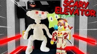 SPOOPY BEAR AND HIS FRIENDS CHASE ME IN THE ELEVATOR!! | Roblox : Scary Elevator