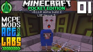 Minecraft Pocket Edition Mods - Ace Labs: E01 | 0.11.0 Mobs: Ghasts, Magma Cubes and Cave Spiders!