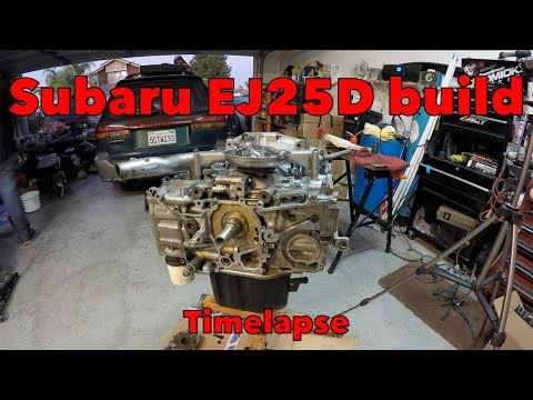 Фото к видео: Subaru N/A EJ25D Longblock Assembly in Timelapse