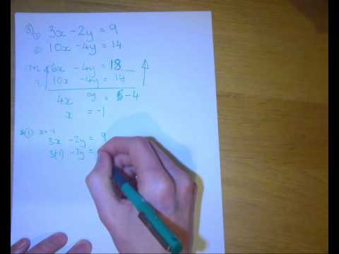 Solving Simulanteous linear equations elimination method