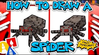 How To Draw A Minecraft Spider