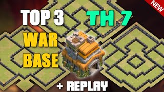Clash Of Clans - TOP 3 TOWN HALL 7 (TH7) WAR BASE + REPLAYS ! 'JULY 2016' Best Anti Dragon Base