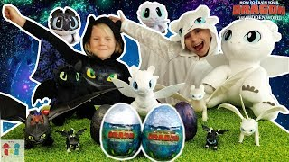 IRL Toothless & Liġht Fury Hatch Baby Night Lights - HUGE Toothless & Lightfury HTTYD Collection!