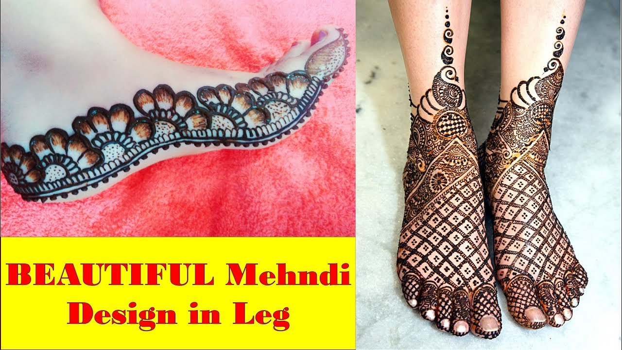 Mehndi Designs Feet N : Mehndi design in leg beautiful foot images