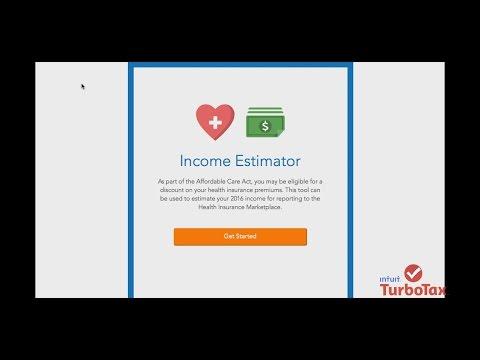 TurboTax Health Care Income Estimator - TurboTax Tax Tip ...